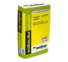 Weber.dur terralit, 10kg, λ= 0,170W/mK - strojní/ruční tepelně-izolační jádrová omítka, pro exteriér/interiér, tl. vrstvy do 40mm