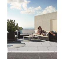 Teracová dlaždice tryskaná TopTeramo Mramorit 40 x 40 x 3,5 cm 064 tmavě šedá