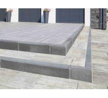 Betonový chodníkový obrubník Best Linea rohová 90 vnější 8x25x25 cm antracit