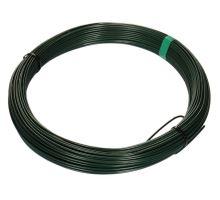 Drát napínací zelený 3,4mm 52m Zn+PVC