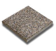 Betonová plošná dlažba Semmelrock Picola vymývaná 40,5 x 40,5 x 3,8 cm říční štěrk hnědá
