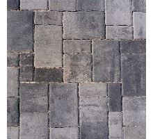 Rhodos Elegant, zvlněná dlažba, 3 kameny, výška 6 cm, šedočerná, Semmelrock
