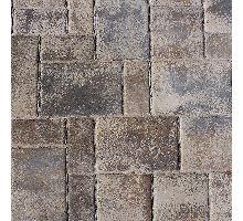 Rhodos Elegant, zvlněná dlažba, 3 kameny, výška 6 cm, lávově šedá melírovaná, Semmelrock