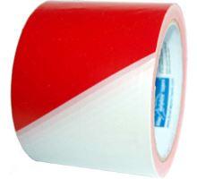 """Páska výstražná červeno-bílá """"zákaz vstupu"""" 80mmx250m"""