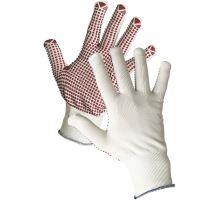 Rukavice GANNET víceúčelové, pletené nylon PVC vel. 10, Červa