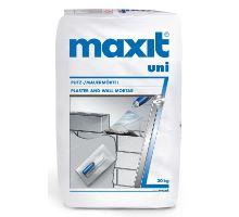 MAXIT uni 5MPa, 30kg - ruční univerzální zdící a omítková vápeno-cementová malta, pro interiér/exteriér, tl. vrstvy 10mm, zrno 0-2mm
