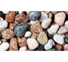 Valoun mramor, 15-25 mm, 25 kg, barevný mix (bílá, černá, růžová, zelená)