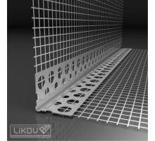 Rohová lišta Kombi Al s Vertex tkaninou 2,5 m, 100x100 mm