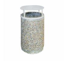 Betonový odpadkový koš MAX Diton vymývaný 48 x 80 cm Dunaj 4 - 8 mm