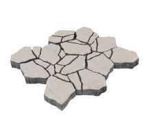 Betonová skladebná dlažba Diton Stone 8 cm creme (skladba 12 kamenů)