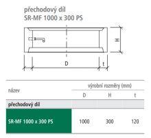 Přechodový studniční díl SR-MF 100x30x12 cm PS Best