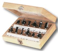 XTline Frézy tvarované do dřeva sada, 12 ks dřevěný box