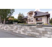 Semmelrock Rivago 40x20x16 cm šedohnědočerná, základní kámen, plotovka hladká