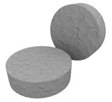 Fasádní polystyrenová zátka 70mm řezaná šedá