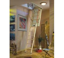 DOLLE půdní skládací schody Extra+ 56mm, dřevěný žebřík, rozměr 60x120 cm, výška stropu do 285 cm