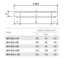 Vyrovnávací prstenec kanalizační AR-V 62,5x8x12 cm Best