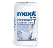 Maxit ip 18, 30kg - strojní/ruční vápeno-cementová jádrová omítka, pro exteriér/interiér, tl. vrstvy 10-20mm