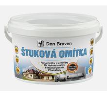 Den Braven Štuková omítka, 4kg - vnitřní/vnější hotová namíchaná štuková omítka