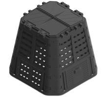 Kompostér plastový, černý, 420 litrů, MULTI