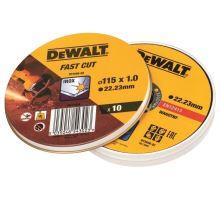 Kotouč řezný na kov 115x1,0mm, DT3506 bal.10ks, prodejní Box DeWalt