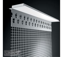 Parapetní PVC profil LPE s tkaninou, 2 m/100 mm