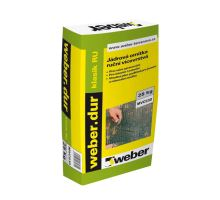 weber.dur klasik RU, 25kg - ruční vápeno-cementová jádrová omítka, pro exteriér/interiér, tl. vrstvy 10-25mm, zrno 4mm