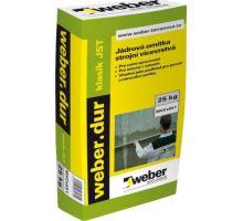 weber.dur klasik JST, 25kg - strojní vápeno-cememtová jádrová omítka, pro exteriér/interiér, tl. vrstvy 10-25mm, zrno 1mm