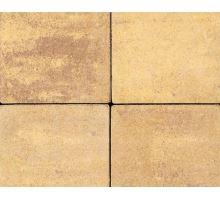 Betonová skladebná dlažba Best Korzo 4 cm colormix sahara (skladba 3 kameny)