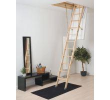 DOLLE půdní skládací schody Click Fix 56, dřevěný žebřík, rozměr 60x120 cm, výška stropu do 280 cm