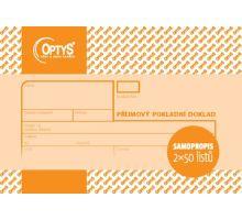 Tiskopis Příjmový pokladní doklad A6 - nečíslovaný NCR propisovací