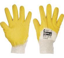Rukavice TWITE stavební práce, bavlna latex vel. 10, Červa