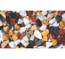 Mramor drcený, 8-16 mm, 25 kg, barevný mix