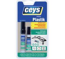 Lepidlo na obtížné plasty 3g+4ml Plastik Ceys (12)