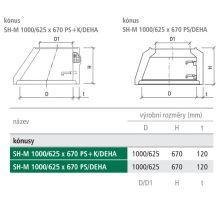 BEST konus kanalizační SH-M 100/62,5x67x12 PS+K/DEHA