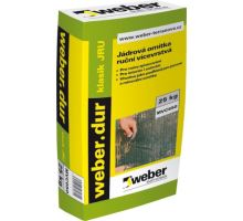 weber.dur klasik JRU, 25kg - ruční vápeno-cementová jádrová omítka, pro exteriér/interiér, tl. vrstvy 10-25mm, zrno 2mm