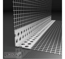 Rohová lišta Kombi PVC s Vertex tkaninou 2,5 m, 100x100 mm
